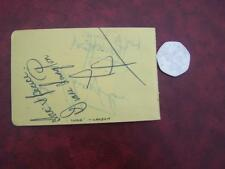 Diane Langton    Autograph to rear Murray Hea  ( reverse sides showing through )
