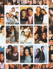 FRIENDS NINETIES SITCOM ANISTON SCHWIMMER KUDROW LEBLANC MNH STAMP SHEETLET