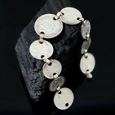 Vtg Sterling Silver Australian Shilling Coin Bracelet