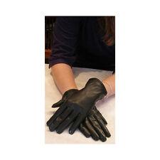 Bruno Carlo Black Kid Leather Wrist Gloves Four Stitch 6.5 & 7.