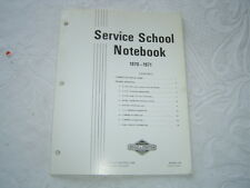 1970 Briggs & Stratton engine service training school notebook manual