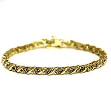 10k yellow gold .60ct SI2H diamond 7 tennis bracelet 8.6g estate vintage antique