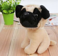 """1Pc 18CM 7"""" Cute Lovely Small Pug Dog Soft Plush Stuffed Doll Toy Gift S2"""