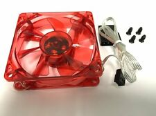 Red LED Case Fan 80 mm 8cm Sleeve Bearing DC 12V Cool Computer 3/4 Pin Connector