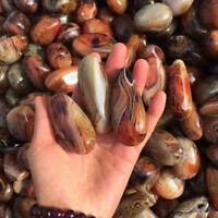 Madagascar Banded Agate Raw Gemstone Tumbled Polished Stone Specimen Gift