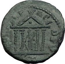GORDIAN III Deultum Thrace Authentic Ancient Roman Coin TYCHE in TEMPLE i63464