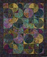 """Eclipse Batik Quilt Kit, Sandy Brawner for Quilt Country,  74"""" x 90"""", DIY Batik"""