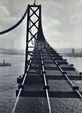 1936 Vintage 16x20 CALIFORNIA San Francisco Oakland Bay Bridge Photo ~ STACKPOLE