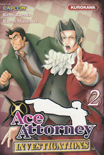 ACE ATTORNEY INVESTIGATIONS tomes 1 et 2 Kuroda Maekawa manga VF seinen