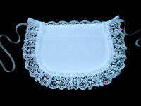 LITTLE GIRLS CHILDS VICTORIAN STYLE MAIDS CUTE LITTLE WHITE APRON COTTON LACE