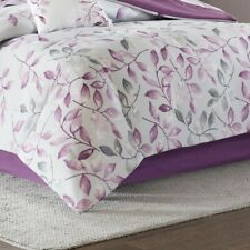 Queen Sized Madison Park Essentials Bed Skirt in Solid Purple