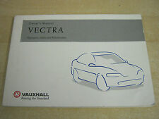 Vauxhall Vectra Owners Handbook owners Manual 1997-2002