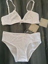 BNWT Girls Story Loris Harrods Modal White Bra & Knickers Set Underwear Age 14 a