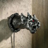 Gothic Gargoyle Cathedral Devil Dog Illuminated Design Toscano Wall Sculpture