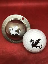 1 only TIN CUP GOLF BALL MARKER - BLAZE - DRAGONS - Yours For Life