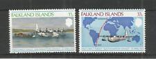 Falkland ISOLA 1978 Primo volo diretto SG, 346-347 U/M N/H LOTTO 3252A