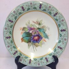 """Antique Royal Worcester Hand Painted Low Comport / Tazza Flowers 9 1/4"""". #2"""