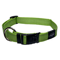 Rogz Dog Collar Side Release Lumberjack Utility X-Large fits 17-29in neck -Lime