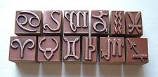 """""""SIGNS OF THE ZODIAC"""" (Sold As Set) Printing Blocks."""