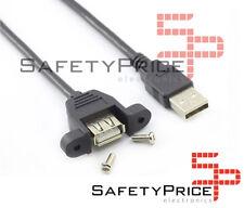 Cable alargador usb 30cm macho hembra montaje panel extensor SP