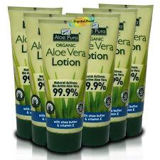 6x Aloe Pura Aloe Vera After Sun Aftersun Skin Lotion With Shea Butter  200ml