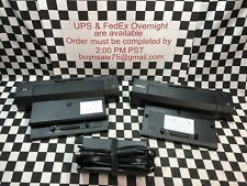 LOT OF 3 Dell E‑Port Replicator PR02X Docking Station (2 DOCK & 1 POWER SUPPLY)