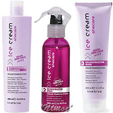 SheCare Reconstructor Kit Damaged Hair Ice Cream Inebrya ® Shampoo + Spray +Mask