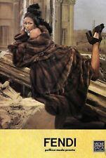 FENDI Couture Brown Mink Fur Swing Coat