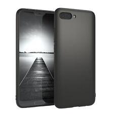 Für Huawei Honor 10 Hülle Case Silikon Cover Schutz Tasche Slim Matt Schwarz