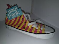 Paul Frank pencil case shoe. High Top Sneaker Trainer. Pink and yellow. NWT
