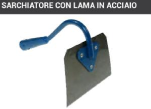 SARCHIATORE LAMA ACCIAO PER SARCHIARE ZAPPARE ERBACCE LAVORO TERRA ZAPPA 16X10