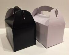 18 PARTY FAVOR TREAT BOX - 9 BLACK  9 WHITE  BAG BIRTHDAY BRIDAL BABY SHOWER