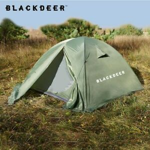2P 3 Peoples Backpacking Tent Outdoor Camping 4 Season Tent With Skirt 2x Layer