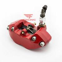 CNC Universal Motorcycle Rear Brake Caliper 80mm Aluminum Red 4-Piston Guard Kit