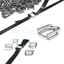 More details for pallet strapping metal buckles for 12mm straps binding sealing packing any qty