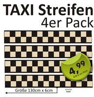 4 x Aufkleber 1,30m  Vespa Roller Aufkleber Taxistreifen kariert Schach #beige