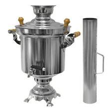 Russischer Holzkohle Samowar Samovar 5 Liter Edelstahl 1,2 mm Türkischer Tee cai