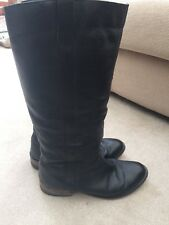 Topshop Black Leather Boots 5