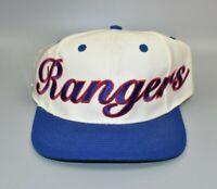 New York Rangers Vintage 90s Twins Enterprise Script Spell Out Snapback Cap Hat