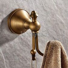 Antique Brass Double Robe Hook Wall Mounted Bathroom Accessories Hardware Kba146