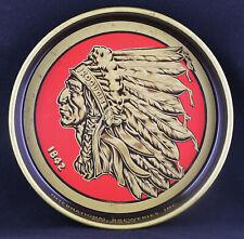 "Iroquois Indian Head Metal Beer Tray International Breweries Buffalo NY (13 1/4"""