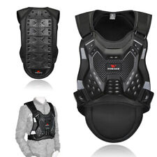 Men Motorcycle Body Armored Vest Jacket Spine Chest Riding Gear Guard Protection