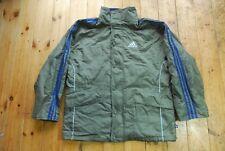 Vintage años 90 Adidas Verde/Azul tres rayas Clásico Chaqueta de abrigo para hombre L
