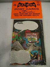 1966 DC Comics BATMAN POSTCARDS Batogram set INFANTINO art 60s unused hero cards