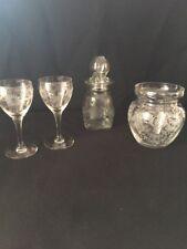 4 Pcs~ANTIQUE  PAIR GLASS LIQUOR STEMWARE