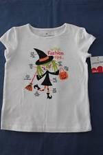 NEW Toddler Girls Halloween T Shirt 2T Witch Fashion Tips Top White Pumpkin $15