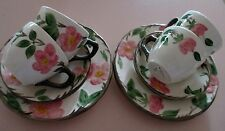 "SET OF 4 CUPS,SAUCERS & SIDEPLATES - FRANCISCAN ""DESERT ROSE"" BY JOHNSON BROS"