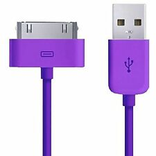 20 x iPad 2 iPhone 4/4S/3/3G Sync Charger Cable WHOLESALE/BULK/JOB LOT PURPLE