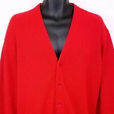 Jantzen Mens Cardigan Sweater Vtg 80s Grandpa Made In USA Red Size XL