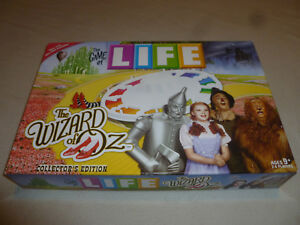 BOXED BOARD GAME OF LIFE THE WIZARD OF OZ 40898 COLLECTORS EDITION HASBRO 2008